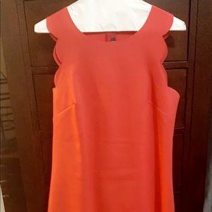 J. Crew Dresses - J Crew scalloped dress